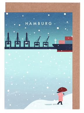 Hamburg Im Winter Lykønskningskort sæt