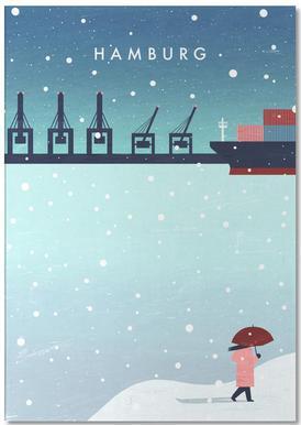 Hamburg Im Winter Notepad