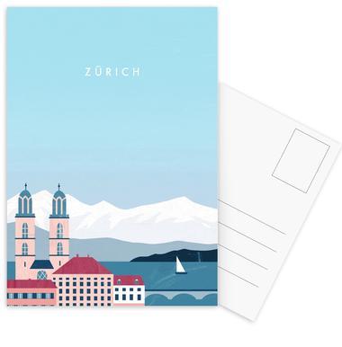 Zürich Postkortsæt