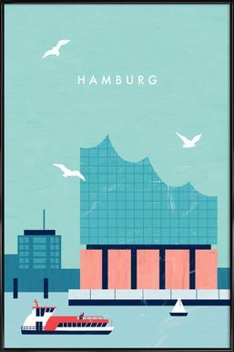 Hamburg Elbphilharmonie -Bild mit Kunststoffrahmen