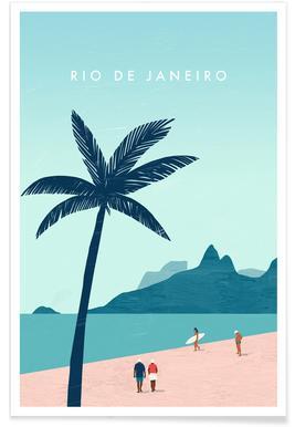 Retro Rio De Janeiro Poster