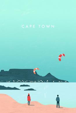 Cape Town Aluminium Print