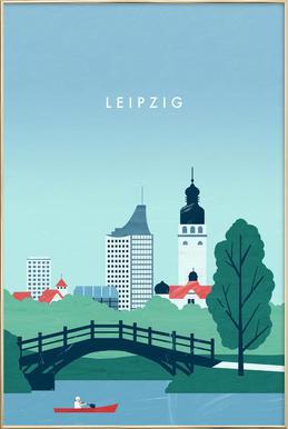 Leipzig Poster in Aluminium Frame