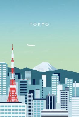 Tokyo Aluminium Print