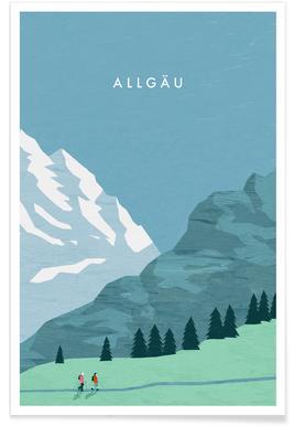 Allgäu - Rétro affiche