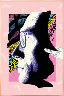Cyborg Art -Poster im Alurahmen