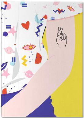Crossed Fingers Notebook