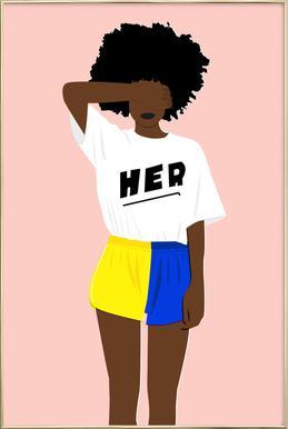 Her I Poster in Aluminium Frame