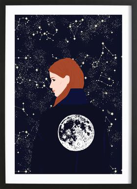 Back to the Moon ingelijste print