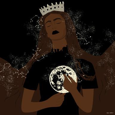 The Moon Queen canvas doek