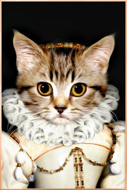 Miss Poes Poster in Aluminium Frame
