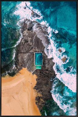 Marble Beach -Bild mit Kunststoffrahmen