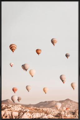Hot Air Balloons ingelijste poster