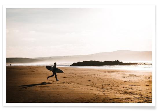 Evening Surf by @BeerSargent Poster