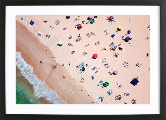 Beach from Above Framed Print