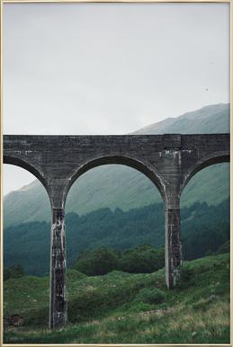 Slate Bridge Poster in Aluminium Frame