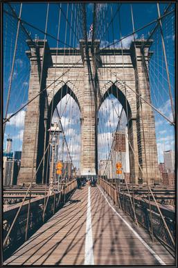 Crossing the Bridge Framed Poster