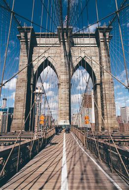 Crossing the Bridge Aluminium Print