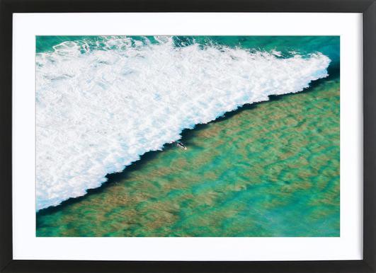 Strayan Beach by @armanimaad -Bild mit Holzrahmen