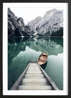 Calm Waters by @rwam - Poster in Wooden Frame