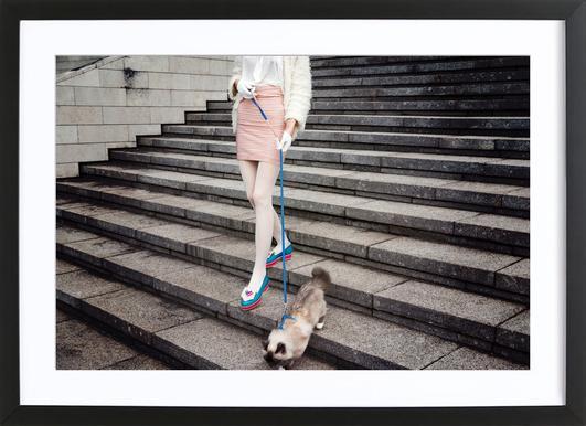 Act Like a Lady by @LinasWasHere ingelijste print