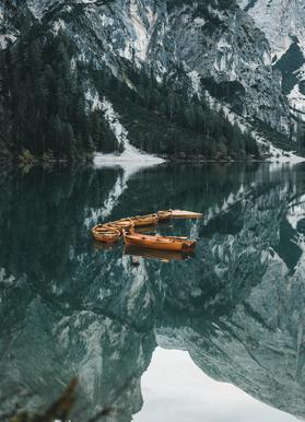 Orange Fleet by @DaniKla -Leinwandbild