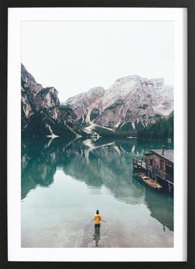 Hidden Lake by Ueli Frischknecht Framed Print