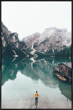 Hidden Lake by Ueli Frischknecht -Bild mit Kunststoffrahmen