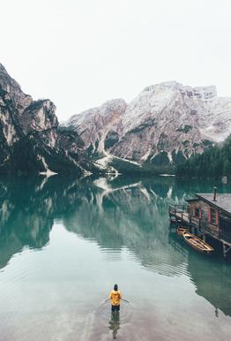 Hidden Lake by Ueli Frischknecht -Acrylglasbild