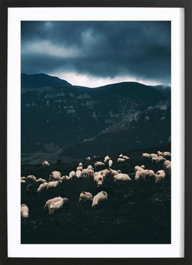 Ride out the Storm by Szabo Ervin-Edward Poster i träram