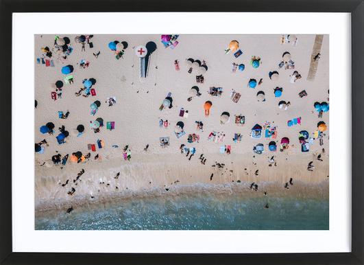 Life's a Beach by Michael Schauer -Bild mit Holzrahmen