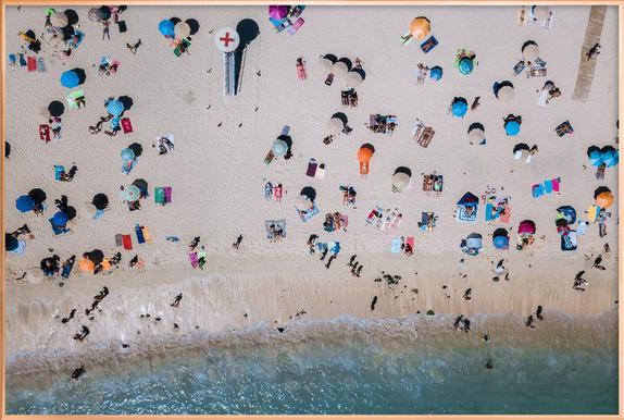 Life's a Beach by Michael Schauer -Poster im Alurahmen