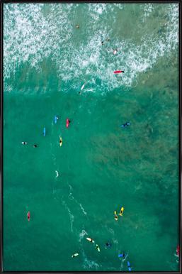Everybody's Gone Surfin' by Lentam -Bild mit Kunststoffrahmen
