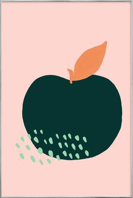 Joyful Fruits - Apple Poster in Aluminium Frame