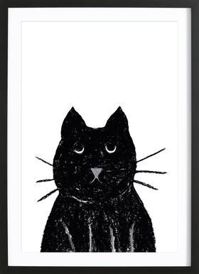Innocent Cat affiche sous cadre en bois