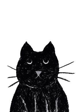 Innocent Cat -Leinwandbild