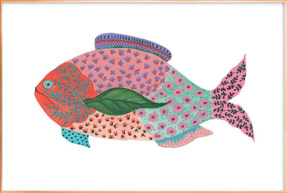 Fancy Fish -Poster im Alurahmen