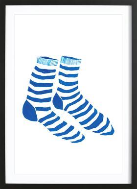 Striped Socks Framed Print