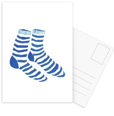 Striped Socks Postcard Set