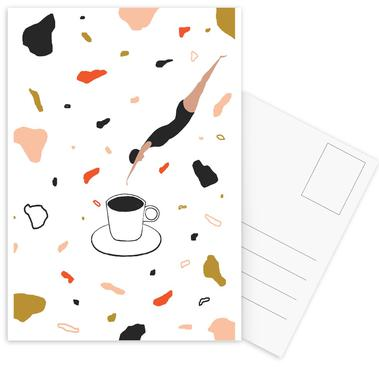 Coffee Lady Postcard Set
