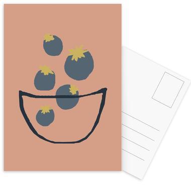 Joyful Fruits - Blueberries cartes postales