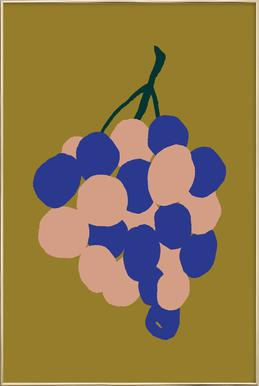 Joyful Fruits - Grapes -Poster im Alurahmen
