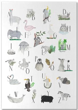 Animals with Letters Notepad