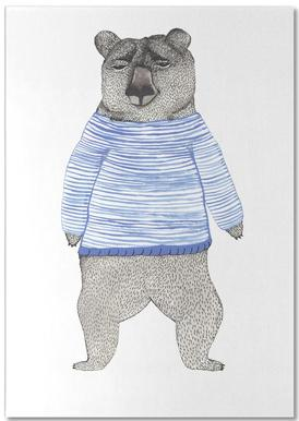 Bear with Stripes bloc-notes