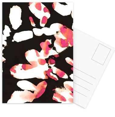 Floral Magenta Postcard Set
