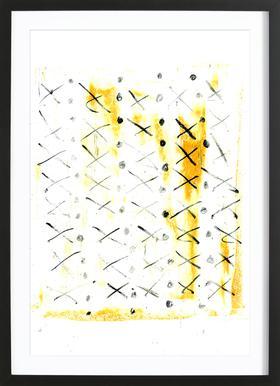 Black Triangle Framed Print