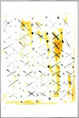 Black Triangle -Poster im Alurahmen
