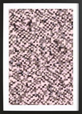 Sahkyi Black -Bild mit Holzrahmen
