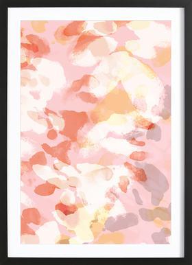 Floral Pastell -Bild mit Holzrahmen