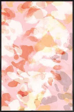 Floral Pastell Poster i standardram